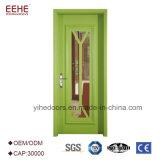 挿入される緩和されたガラスが付いている材木の振動木製のドア