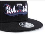 カスタム最も新しい3D恐怖の刺繍の平らな縁のブランクの急な回復の帽子