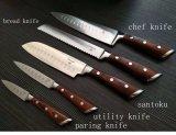 Нож хлеба ножа обстрагывая ножа ножа Santoku ножа шеф-повара ножа кухни установленный общего назначения