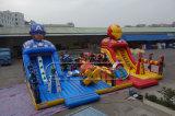 Città gonfiabile di divertimento della sosta del castello di divertimento di tema dei vendicatori