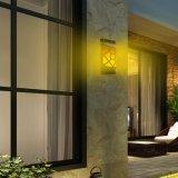 Solar impermeable llama vacilante luz de la luz de la pared exterior Solar