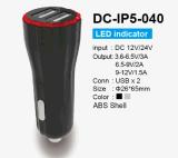 2 USB 포트 DC 12V/24V LED 표시기 차 충전기