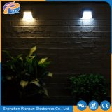 IP65 12V scaldano l'illuminazione esterna solare bianca dell'indicatore luminoso della parete del LED