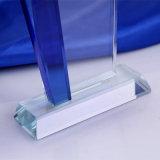 زرقاء وبيضاء بلّوريّة زجاجيّة قارب شخصيّة تصنيع حسب الطّلب كتابة غنيمة