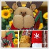 Het in het groot Stuk speelgoed van Kerstmis van de Kerstman van de Sneeuwman van Elanden Plastic
