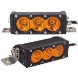 24 carros campo a través de voltio de Ddl-H-30W 12 barran la sola barra del carro ligero de la fila LED