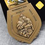 Ehrenweiches Decklack-Vierecks-königliches Rugby-Münzen-Metallkundenspezifische fördernde Medaillen