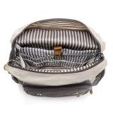 Entwerfer-Segeltuch-Baby-Windel-Beutel-Mama-Rucksack mit Laptop-Schicht-Tasche