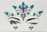 Adhesive EDC Music Play Resin Glitter Face Gems Rhinestone Jewel Festival Party Body Tattoo Stickers (SR-04)
