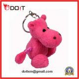 Rose jouets mous bourrés bel par agneau de chaîne principale de peluche pour le cadeau de promotion