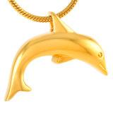 Pendant matériel de polissage élevé d'incinération d'animal familier de forme de dauphin d'acier inoxydable