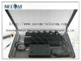2g/3G/4G l'emittente di disturbo del cellulare +GPS+Lojack, emittente di disturbo fissa portatile, alimenta l'emittente di disturbo mobile registrabile del segnale, antenne dello stampo 6 del segnale con la batteria