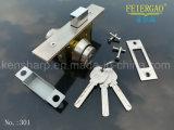 Tipo fechamento de porta inoperante 301 do cilindro do Mortise da segurança do aço inoxidável do parafuso