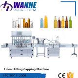 Máquina de enchimento e tampando do petróleo líquido linear de Automati