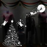 Weihnachtsschnee-Flocken-Abziehbild-Vinylentfernbare Fenster-Glas-Aufkleber, Vinyldekoration-Aufkleber für Glasfenster