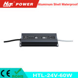 24V 2.5A 60W impermeabilizan la bombilla flexible de tira del LED Htl