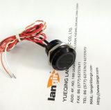 interruptor Piezo de alumínio preto de 19mm