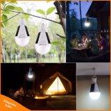 7W Solar Linterna portátil Lámpara Bombilla LED E27 110V 220V recargable al aire libre de carga del sensor de emergencia de la noche de la luz de la carpa de camping