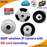 1.3 Megapxiel 960p WiFi Fisheye Mini-câmara CCTV-com-Audio
