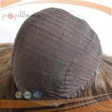 Cabello de seda color marrón oscuro peluca superior (PPG-L-01813)