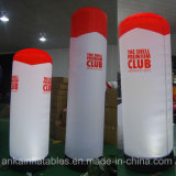 Décorations gonflables personnalisé les colonnes de lumière à LED