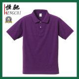 Maglietta promozionale poco costosa del cotone della giuntura differente di colore di abitudine