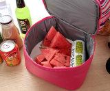 Les sacs thermiques de déjeuner de coton de perle d'Oxford pour des sacs de refroidisseur de pique-nique de nourriture de gosses ont isolé les sacs de conservation frais de déjeuner de Double couche de sacs de mémoire