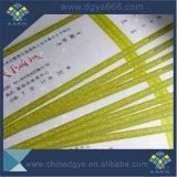 Carte de papier de estampage chaude faite sur commande de garantie d'hologramme