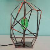 Klassischer moderner Art-Edelstahl-Rahmen-Glastisch-Lampe für Büro