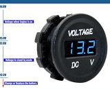 C.C 12V-24V imperméabilisent le voltmètre de tension de Digitals