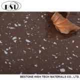 Brame artificielle de pierre de quartz de platine de Brown