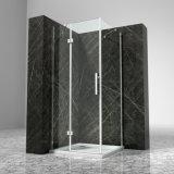 Caixa articulada do chuveiro do frame vidro temperado de alumínio