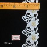 уравновешивание шнурка вышивки Venise тесемки уравновешивания шнурка вышивки золота 7cm для одежды Hme832