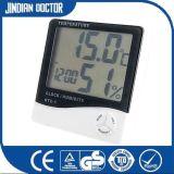 con il termometro di Digitahi multifunzionale dell'orologio e dell'igrometro per mostrare