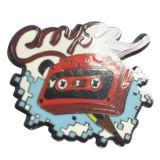 カスタム多彩な女の子の金属の柔らかいエナメルの金/銀製の/Copper/黒い金属の折りえりはピンで止める金属のバッジのメタルピン(YB-HD-42)を