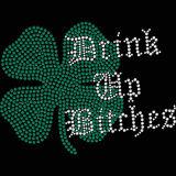 Custom Green Girl Scout Rhinestone Transferir para uma T-shirt no comércio por grosso