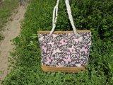 2017 novas bolsas de costura de lona de Palha