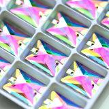 13*18mm, Zilveren Basis van de Kleur van het Kristal Ab van 18*25mm de Vierkante naaien op de Parels van het Bergkristal