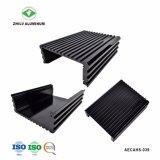 Perfil de extrusión de aluminio pulido negro para el alquiler de alojamiento de amplificador