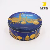 Venda por grosso de chocolate /Cookie Tamanho personalizado Caixa de estanho metálico de metal de estanho Cookie Caixa de oferta