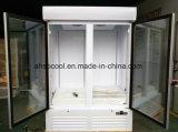Frigorifero commerciale della latteria del refrigeratore della bevanda con la porta a battenti
