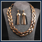 Nueva Steel Producto Snack-Cadena Conjunto pendiente collar de moda