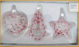 Arte de cristal de las ventas calientes para la decoración de la Navidad (corazón, árbol, estrella)