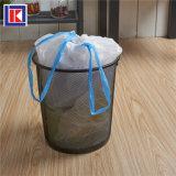 롤에 있는 주문 별 물개 HDPE/LDPE 동점 손잡이 쓰레기 봉지