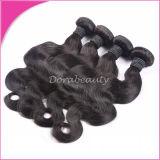 Toda a cutícula do cabelo da onda corporal indígena bruta de cabelo humano ramal