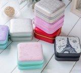 Kundenspezifischer Whosale hoher Grad-beweglicher reisender Schmucksache-Kasten für Ohrringe und Ringe