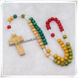 木は中国製玉を付ける数珠のネックレスの宗教項目(IOcr252)に