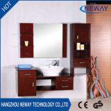 Cabina de cuarto de baño montada en la pared al por mayor de madera sólida del espejo