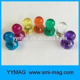 Пластичные цветастые магниты памятки офиса/магнитный Pin нажима