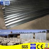 Chapa de aço ondulada galvanizada de telha de telhadura YX18-76-836
